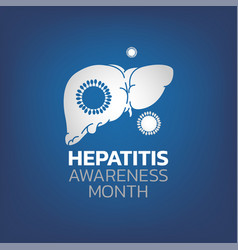 Hepatitis awareness month vector