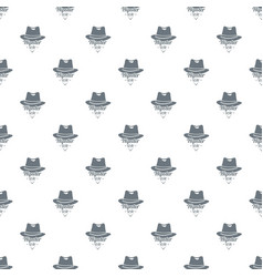 hipster hat pattern seamless vector image