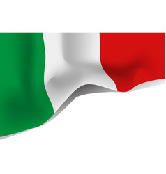 italy national waving flag isolated on white vector image