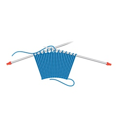 Knitting pattern and needles vector