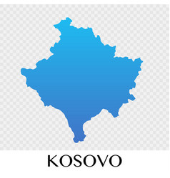 kosovo map in europe continent design vector image