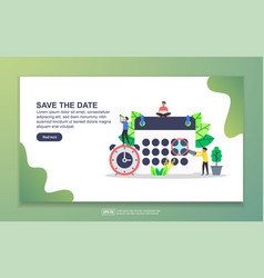 Landing page template save date modern vector