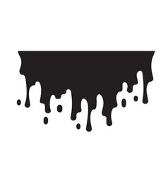 Liquid chocolate cream dripping paint shape vector