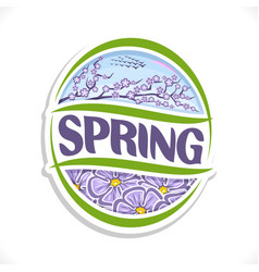 Logo for spring season vector
