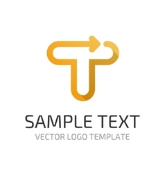 logo template T vector image