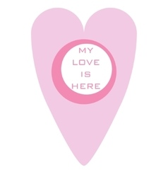 Map marker heart shape vector