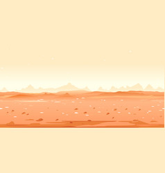 Martian desert game background vector