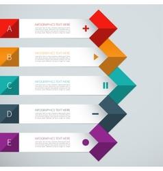 Modern arrow infographics elements vector
