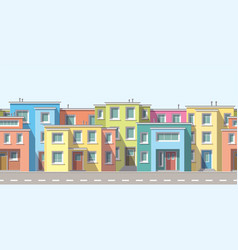 Modern houses in the suburb vector