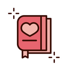Mothers day card letter heart love line and fill vector