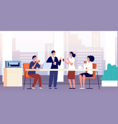 office coffee break business lunch managers in vector image