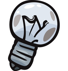 old bulb junk cartoon vector image