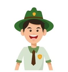 Park ranger icon vector