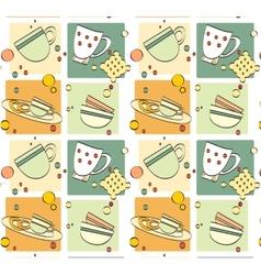 pattern - breakfast vector image