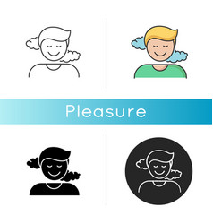 Pleasure icon vector