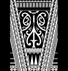 polynesian style ornament vector image