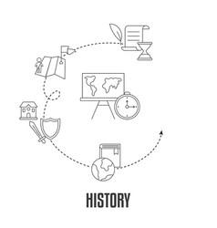 school subjects design concept school subjects vector image