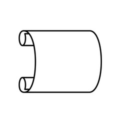Scroll linework element vector