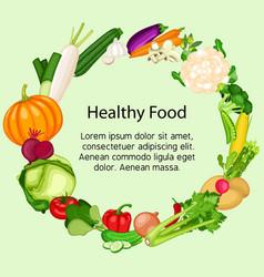 set healthy vegetarian food vector image