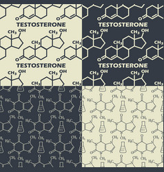 Set of chemical formula background seamless vector