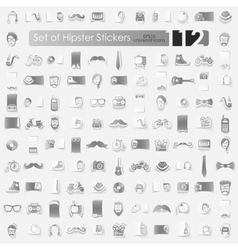 Set of hipster stickers vector