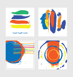 set with square abstract cards drawn in graphic vector image