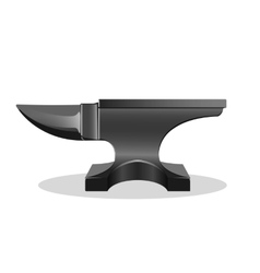 Single horn anvil simple icon isolated on white vector image
