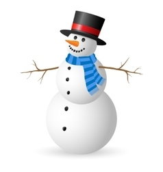 Snowman isolated on white background vector image