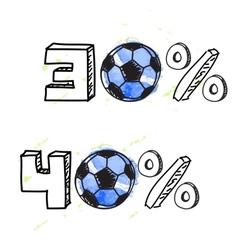 Soccer discount elements vector