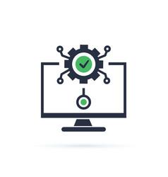 software development automation technology vector image