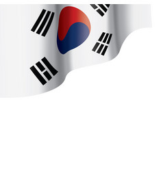 south korean flag on a white vector image