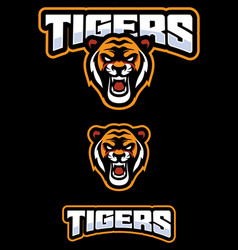 tiger mascot logo vector image