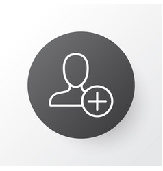add icon symbol premium quality isolated insert vector image
