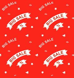 big sale seamless pattern vector image