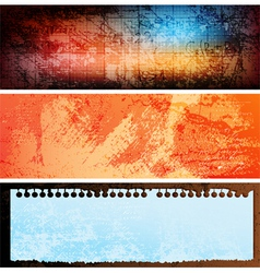 grungy banners vector image