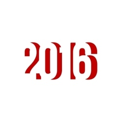 red number of 2016 happy new year vector image vector image