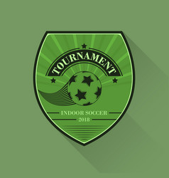 Soccer logo football logotype in flat design vector