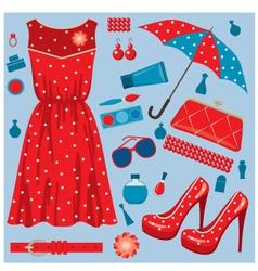 fashion set vector image vector image