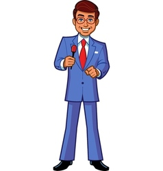 Game Show Host Announcer vector image