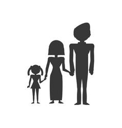 pictogram family love members vector image