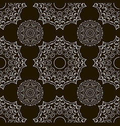 black and white seamless doodle pattern ethnic vector image