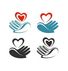 Health donation charity logo or label hand vector