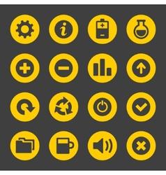 Universal Simple Web Icons Set 2 vector image