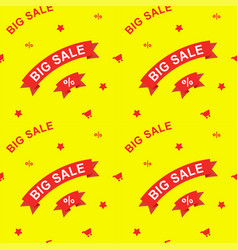 big sale and discounts seamless pattern flat vector image