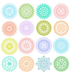 collection of decorative elements vector image