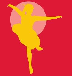 dancing ballerina silhouette vector image vector image