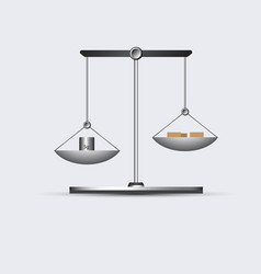 Grey weigh-scales picture vector