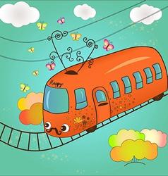 happy tram vector image