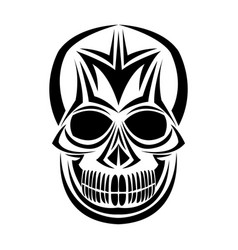 skull tribal tattoo bohemian decoration image vector image