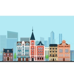 Urban landscape Old buildings vector image vector image